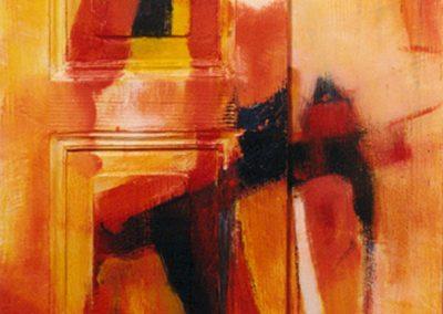 1999, Porta n° 1 Arancio 51,5x165