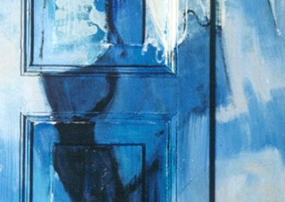 1999, Porta n°3 Blu cm.48x172