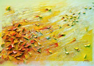 2012, Le vol des Papillons 3, cm150x100 tecnica mista su tela sold