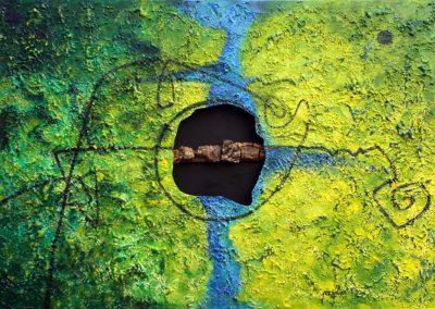 2013, Amazzonia cm 150x100 tecnica mista su tela