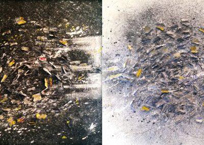2014 Black and White cm.100x50 mista su tela