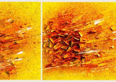 2014, Butterflies fly away cm. 160x50 tecnica mista su tela