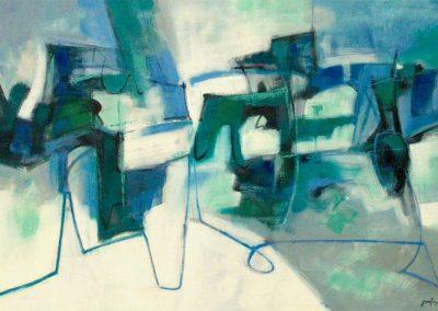 2000, paesaggio lacustre 150x100 sold Cardiff