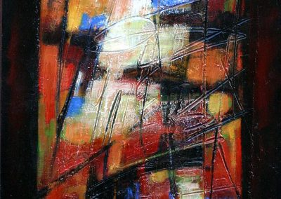 2006, Vetrata n°6 cm.40x80