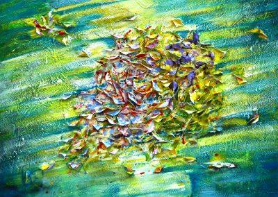 2013 Papillons Monet cm.100x80 tecnica mista su tela sold