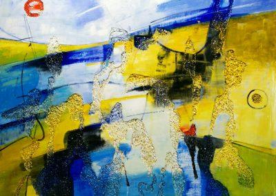 2017, Landscape cm.120x100 mixed media on polystyrene