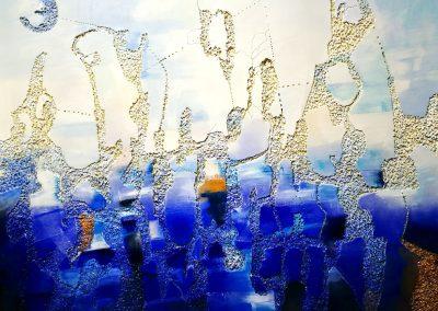 2017, Ligtness cm.120x100 mixed media on polystyrene