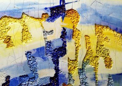 2017, Paesaggio Informe jf2 cm.59,5x120,5 mista su polystyrene
