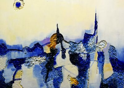 2017, Paesaggio Blu cm.60x50 mixed media on polytyrene