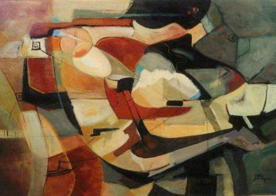 1995, Gli amanti cm.150x100 olio su tela