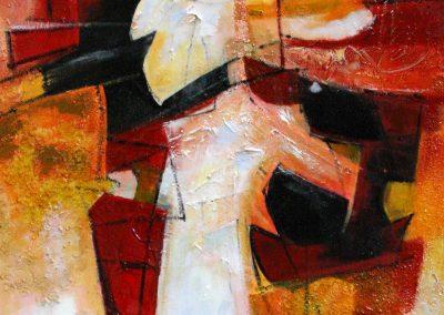 2009, Ritagli cm 80x120 tecnica mista su tela € 800 esposto a New York