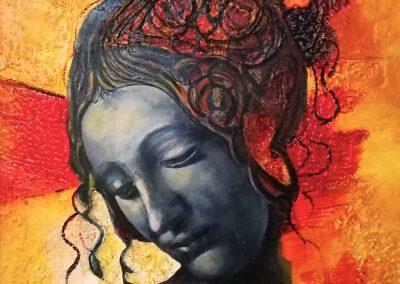 19-Volto-di-Donna-a-Leonardo-cm.485x55-mixed-media-on-polystyrene